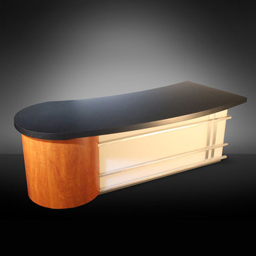 Curved News Desk
