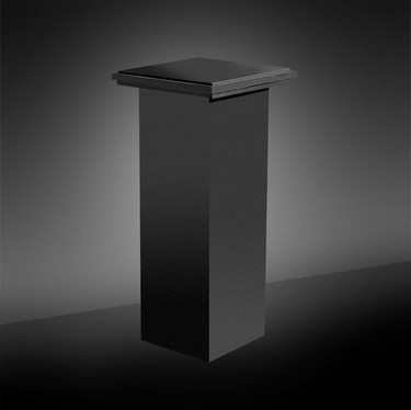 Black Square Pedestal with Square Top