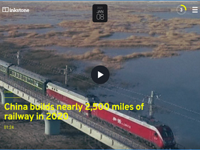 China builds nearly 2,500 miles of railway in 2020