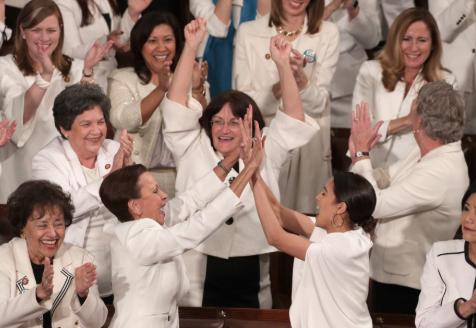 Women Suffragettes in Congress