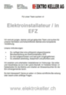 Jobinserat Elektroistallteur