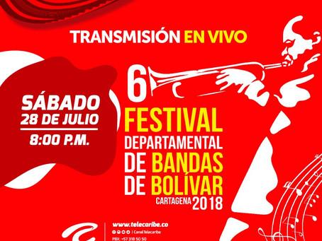 Comunicado 45: Telecaribe transmite el Festival Departamental de Bandas 2018