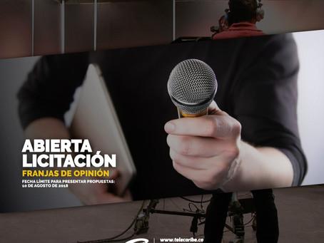 Comunicado 37:Telecaribe recibe propuestas para convocatoria de Cocina y Licitación de Programas de