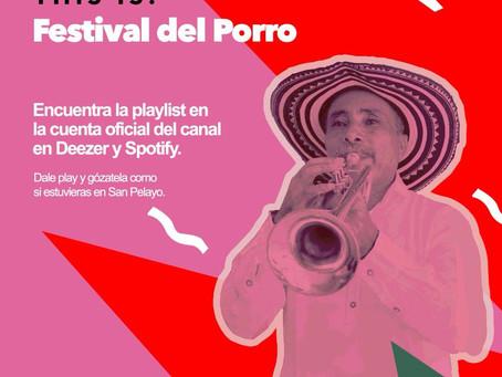 Comunicado 36: Hoy, el Festival Nacional del Porro se toma las pantallas de Telecaribe.