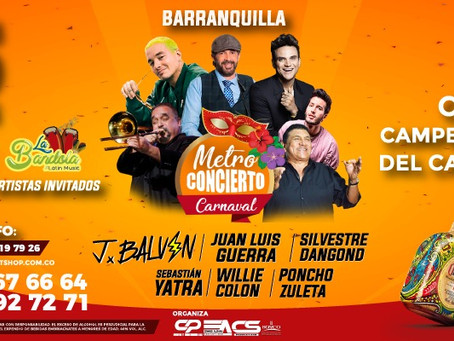 Ganadores Metroconcierto de Carnaval 2018