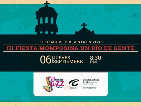 Comunicado 59: La séptima versión del Festijazz de Mompox se vive en exclusiva por Telecaribe
