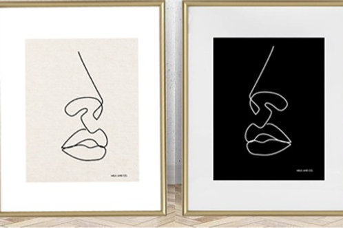 Silhouette Art Print Duo
