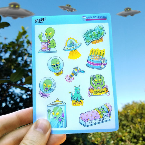 Alien Sticker-Sheets (pack of two)