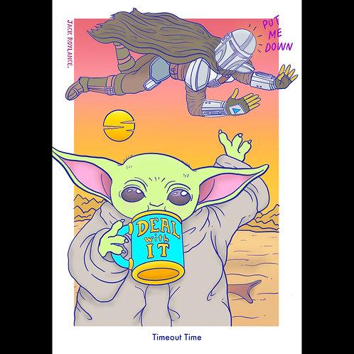 Baby Yoda - 'Timeout Time' (A3 Print)