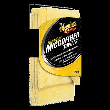 MEGUIAR'S MICROFIBRA SUPREME SHINE (PACK DE 3UNIDADES)