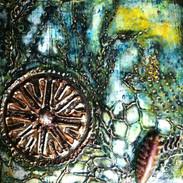 Boburka, Holy Water , mixed media, 6 x6
