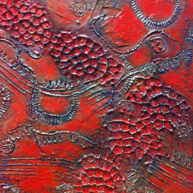 Boburka Cast 10 x 10 inches encaustic mm