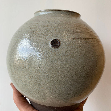 Large Moon Vase - Light Grey