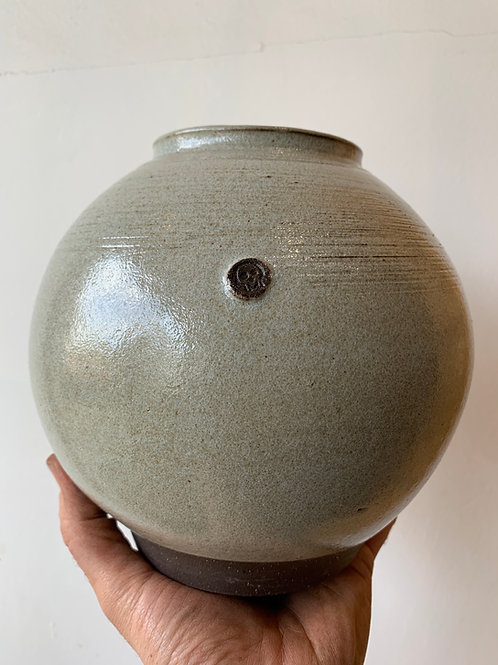 Large Moon Vase - Light Grey