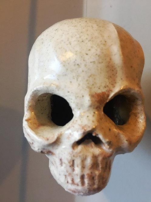 Hanging Hand Made Ceramic Skull