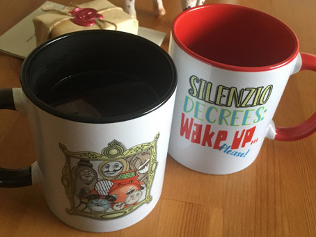 Silenzio mugs and t's (parcels in the post)