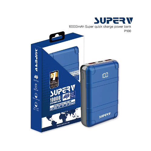 SuperV 新品上市:「P100」快叉 4.0 10000mAh喼型外置電