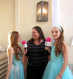 This young ladies were the best interviewers!!!!