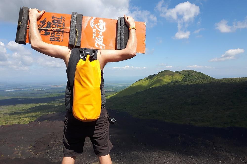 Volcano boarding at Cerro Negro in Nicaragua