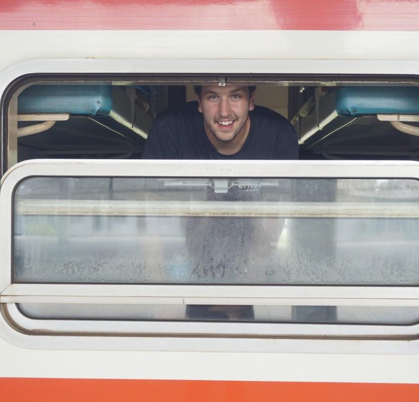 Lucas on Tazara Train