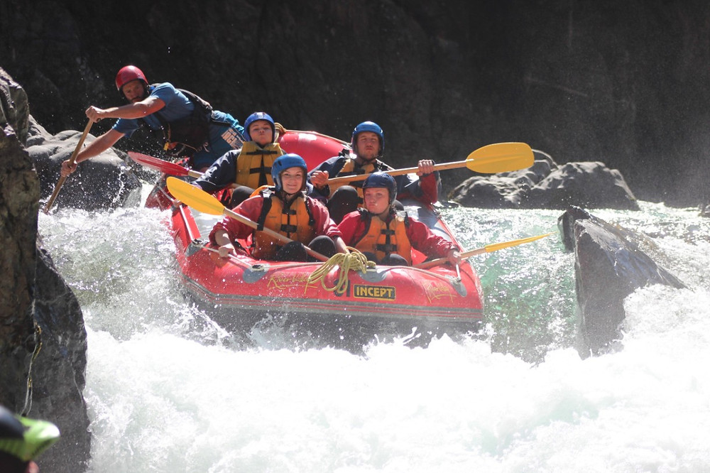 White water rafting the River Valley