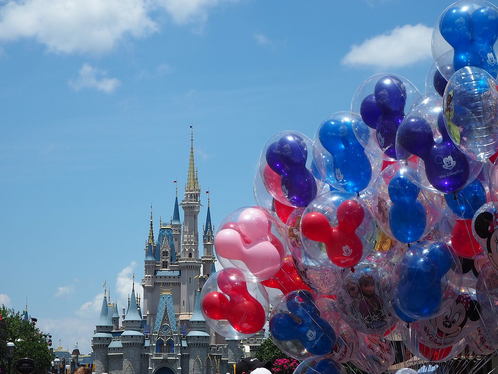 Magic Kingdom Castle and Balloons Disney World