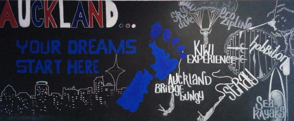 Attic Backpackers welcome board   AUCKLAND: your dreams start here