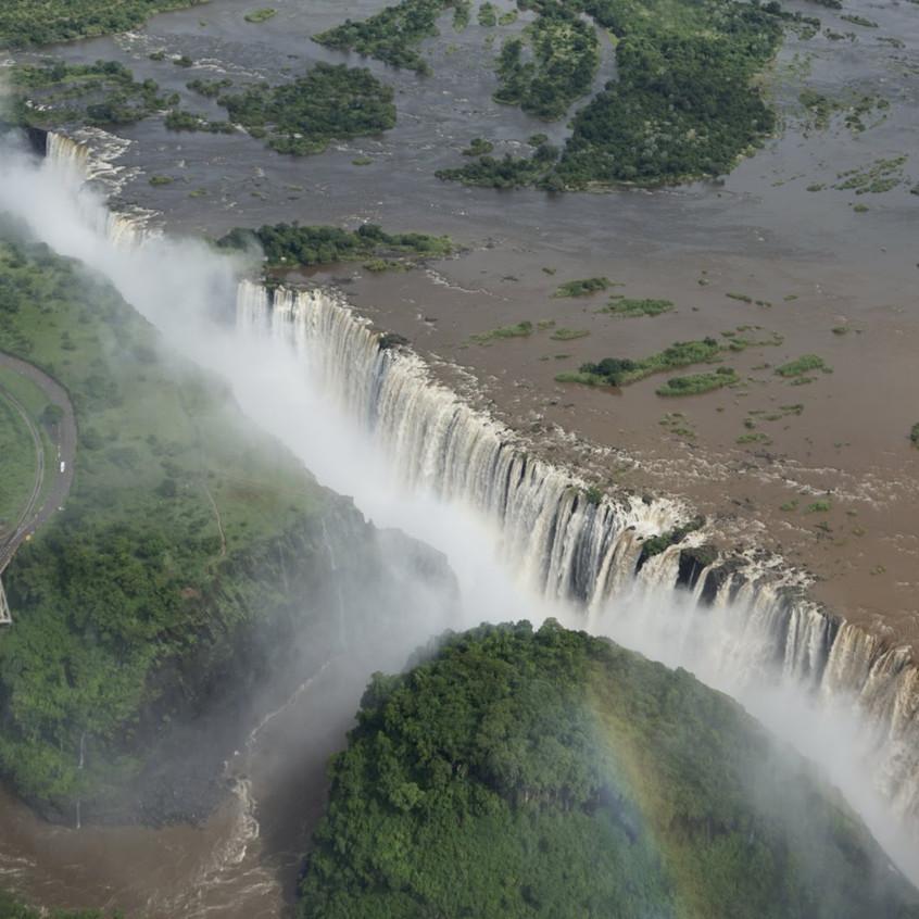 Aerial View of Victoria Falls, Zambia