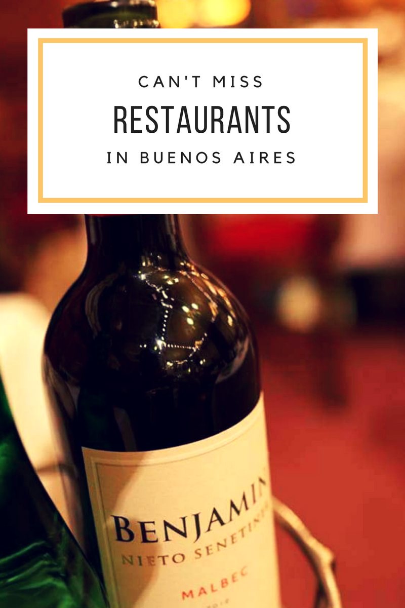 Restaurants You Can't Miss In Buenos Aires | What do you think of when you think of Buenos Aires? Personally when I think of the countries capital, I think of the night life, wine, tango music, wonderful football (Boca and River Plate), very passionate people, a strong history, beautiful sights, and I also think of a beautiful mix of Spanish and Italian foods