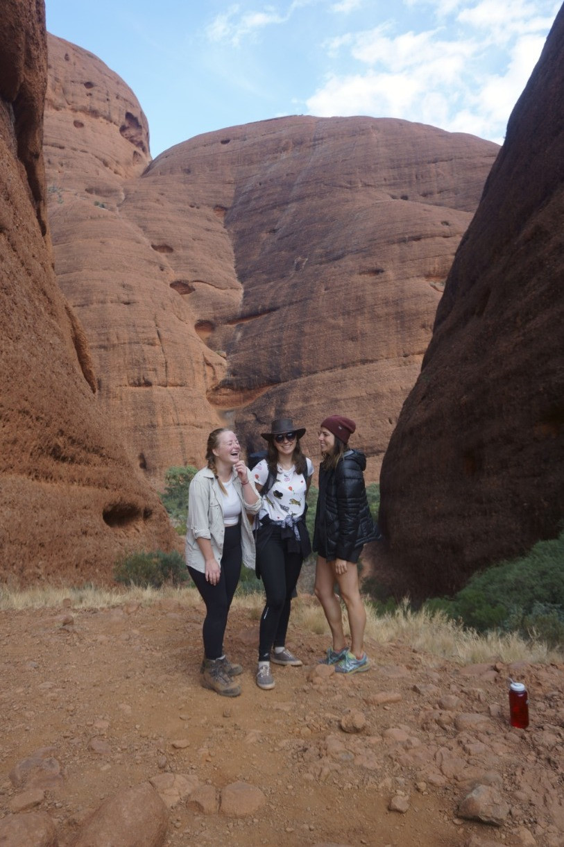Missy and tour mates at Kata Tjuta, Australia