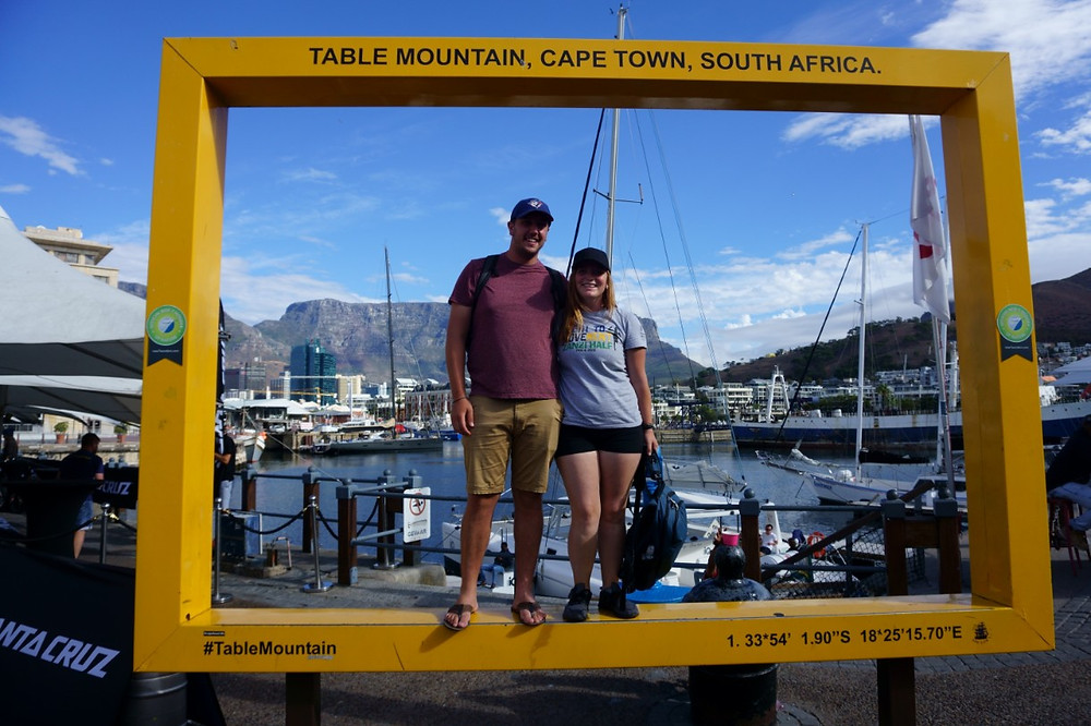 Missy and Lucas at the V&A Waterfront, Cape Town