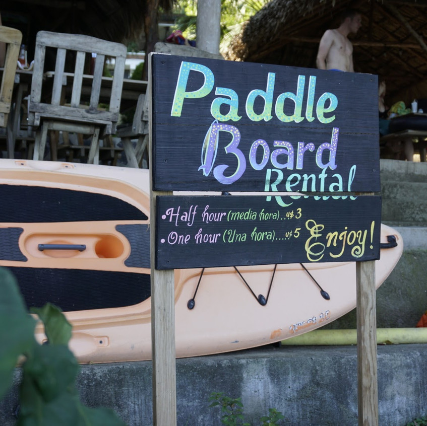 Paddle board rental at Laguna de Apoyo (Crater Lake)