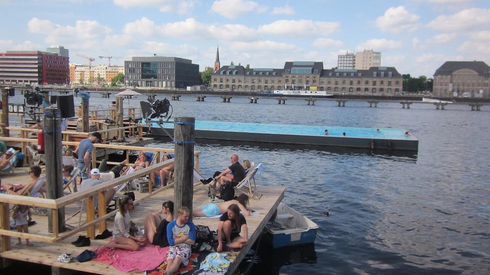 Badeschiff: a pool inside the river Spree