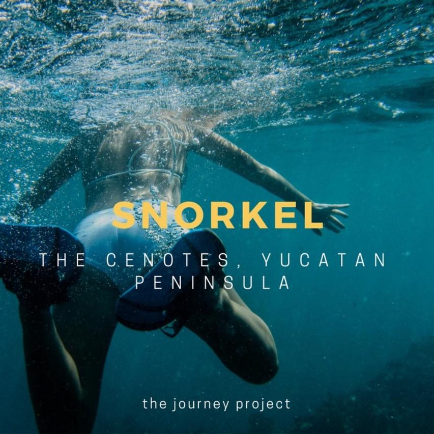 Snorkel the Cenotes in Mexico