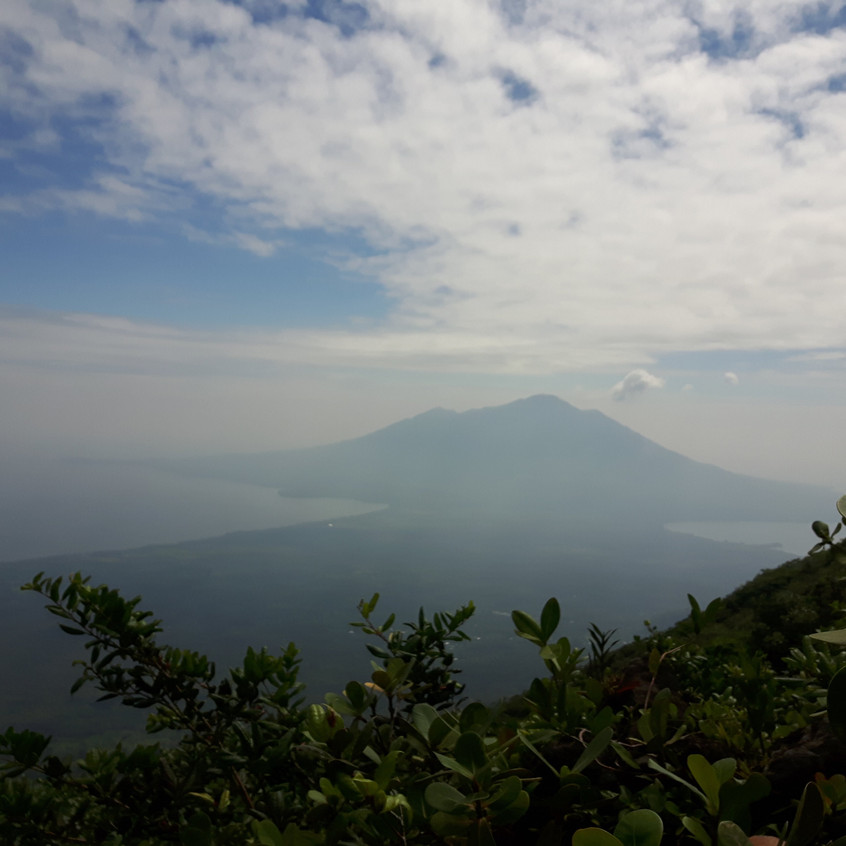 Hiking Concepción, view of Maderas, Ometepe Island