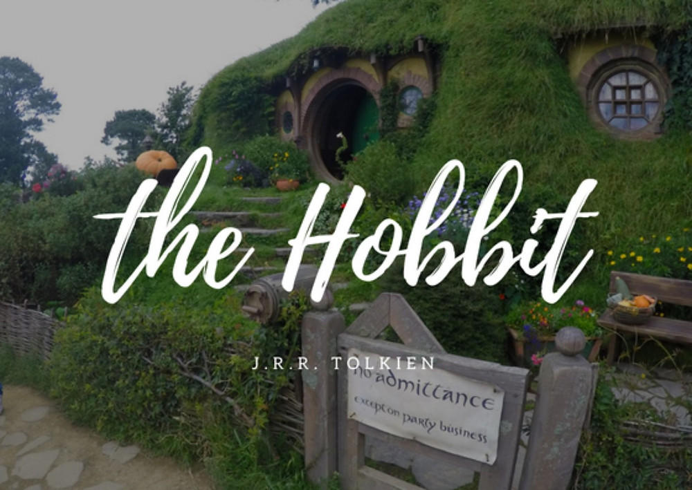 Bag End in Hobbiton with the Hobbit written on top