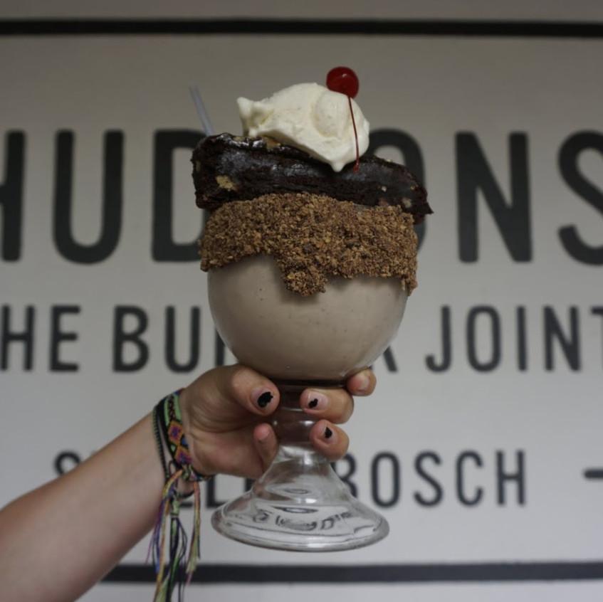 Milkshake at Hudson's Burger Joint, Stellenbosch