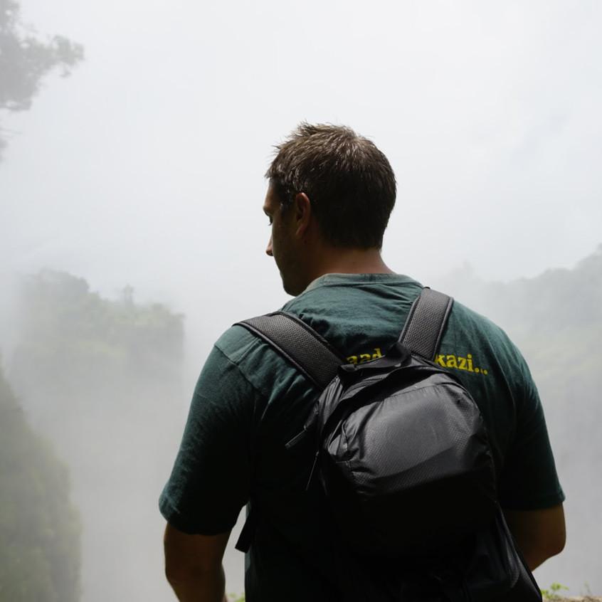 Lucas at Victoria Falls, Zimbabwe