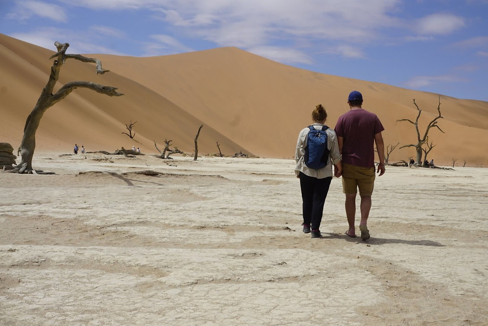 Missy and Lucas at Deadvlei Sossuvlei, Namibia