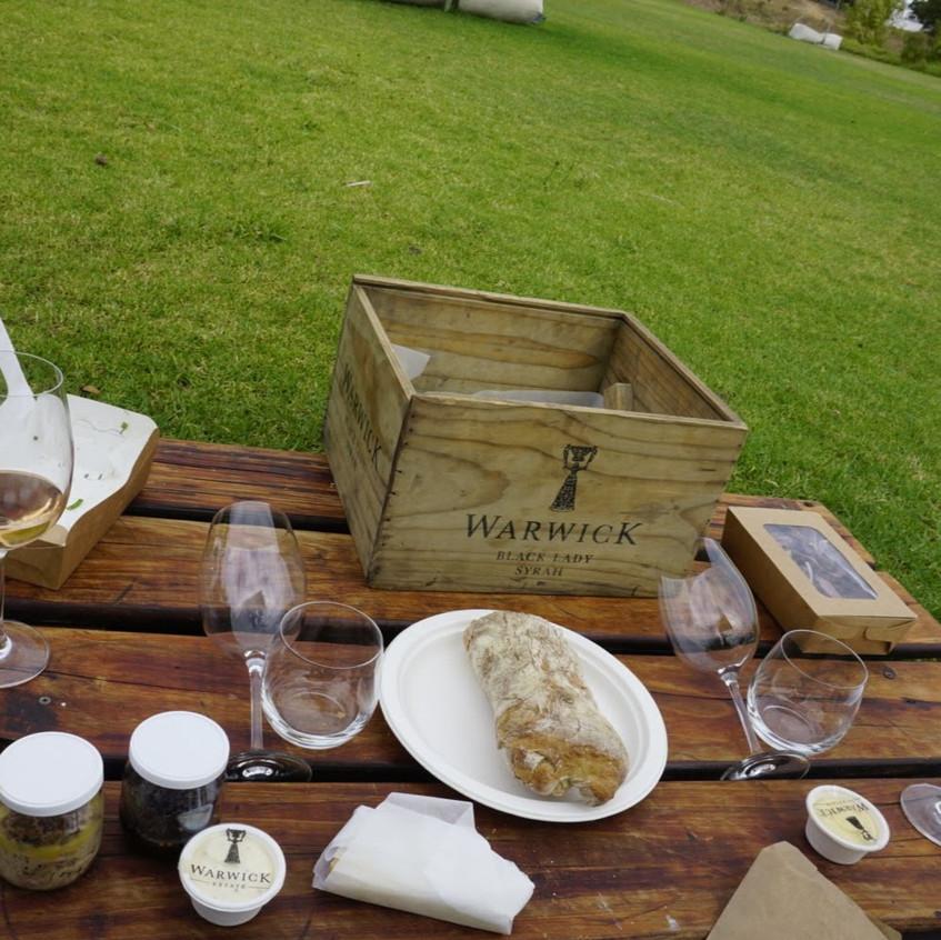 Picnic on Stellenbosch Wine Tour
