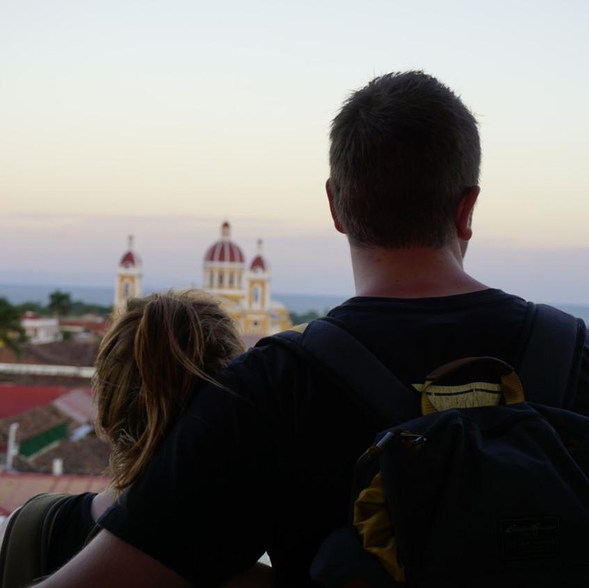 Missy and Lucas Granada views, Nicaragua