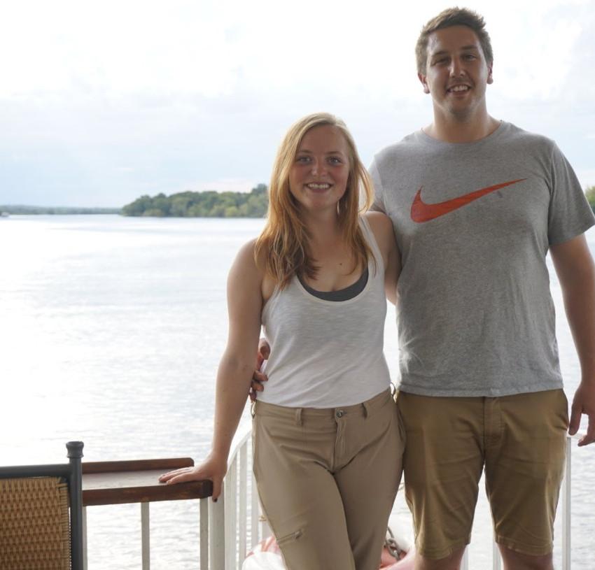 On the Zambezi boat cruise