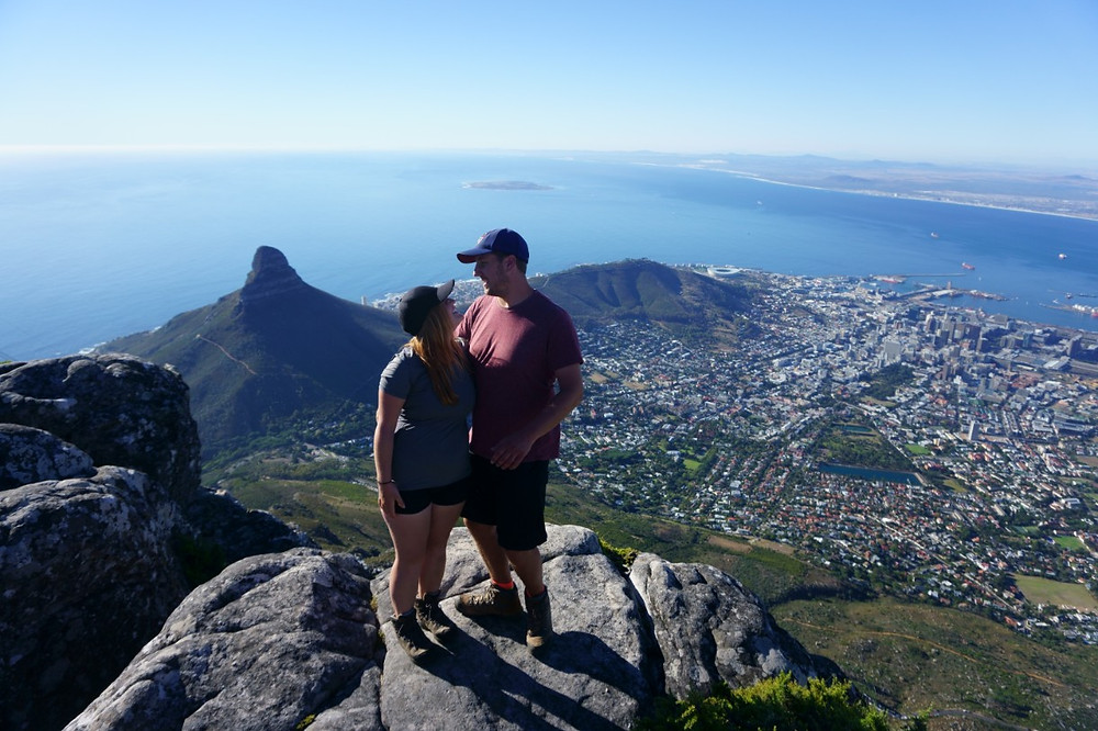 Lucas and Missy at Table Mountain, Cape Town
