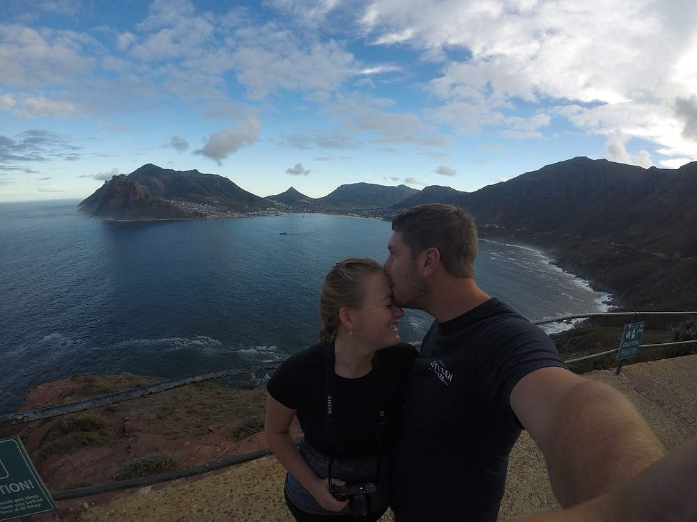 Lucas and Missy at Chapmans Peak South Africa