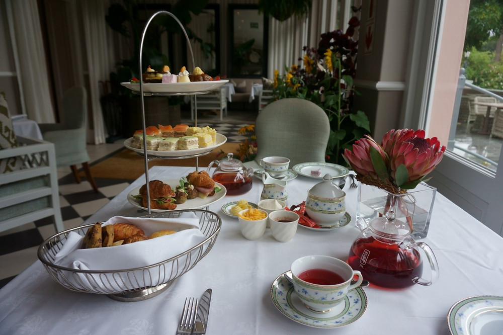 High Tea platter at Mount Nelson Hotel