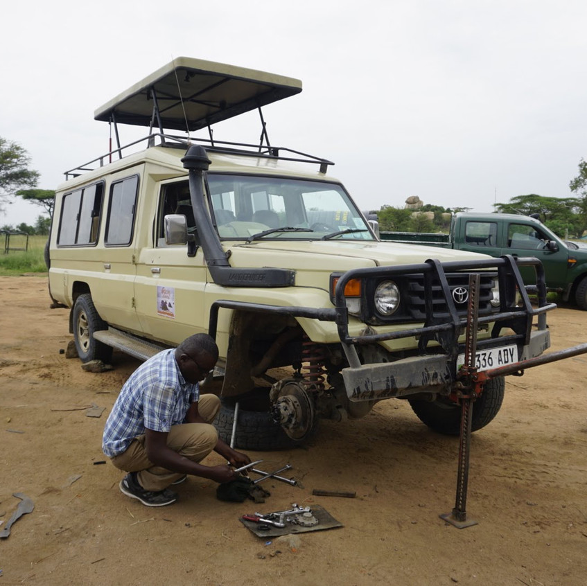 Safari Breakdown in Serengeti National Park