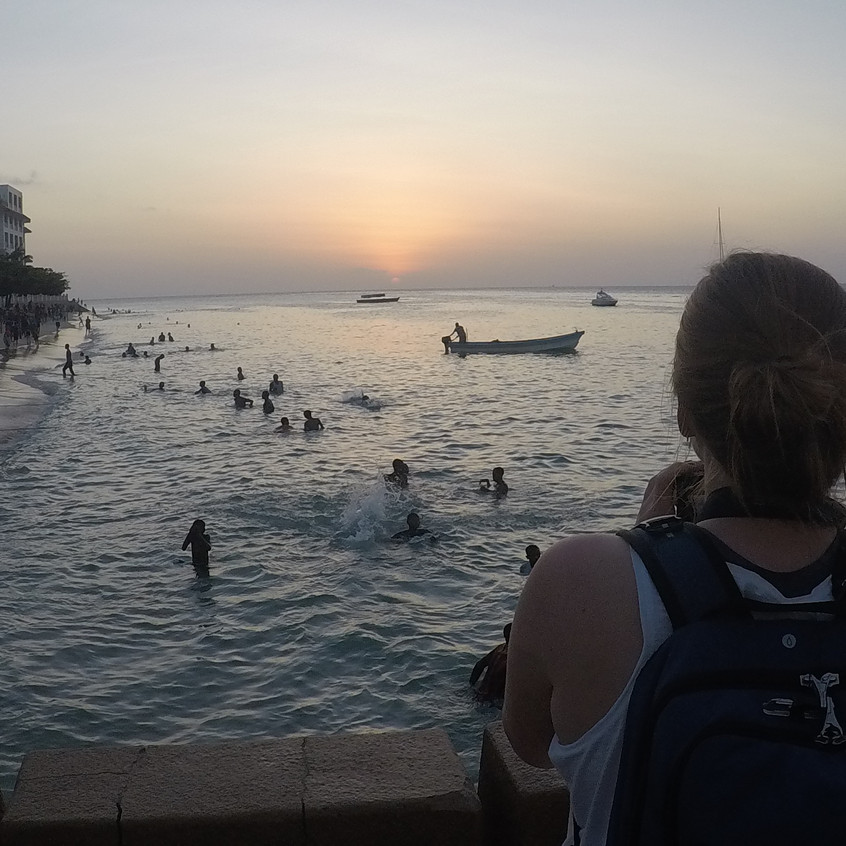 Coastline Play at Sunset, Stone Town