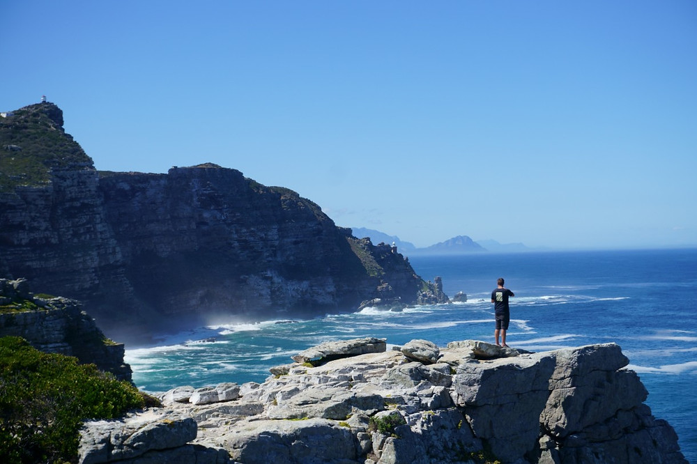 Lucas at the Cape of Good Hope, South Africa