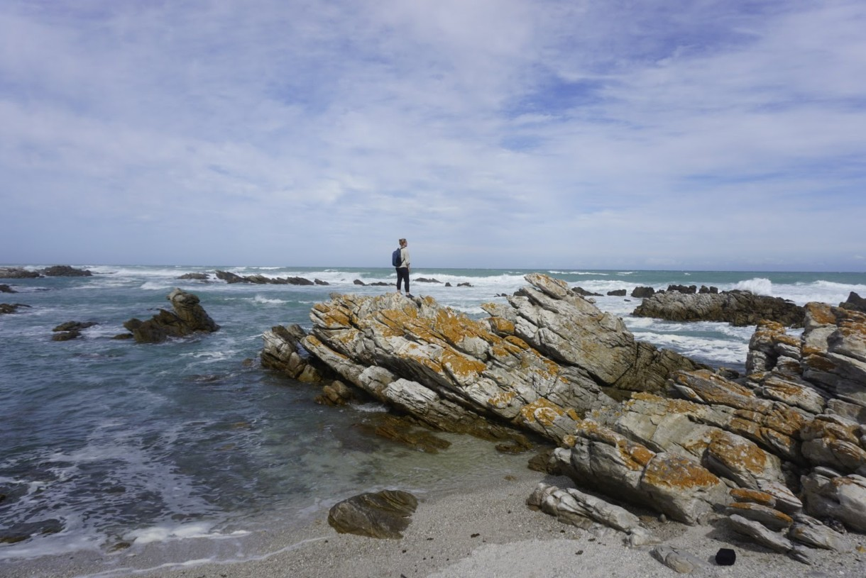 Missy at Cape Agulhas