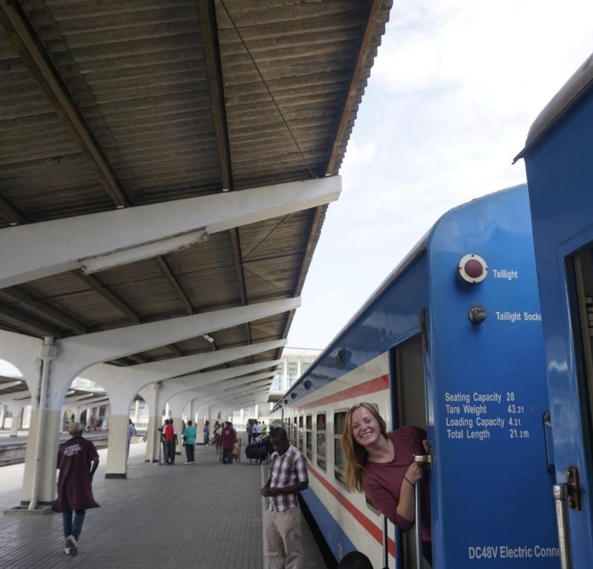 Missy on Tazara Train